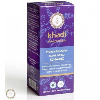 Khadi zuivere Indigo haarverf zwart