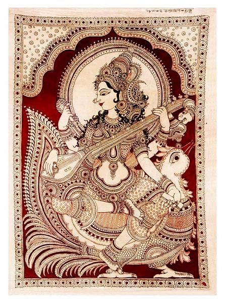 Indian Painting Styles...Kalamkari Paintings (Andhra Pradesh)-saraswathi1-11-.jpg