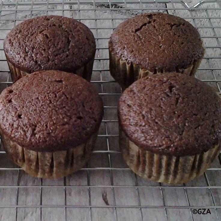 Chocolade muffins van kokosmeel. #glutenvrij #lactosevrij #fructosearm