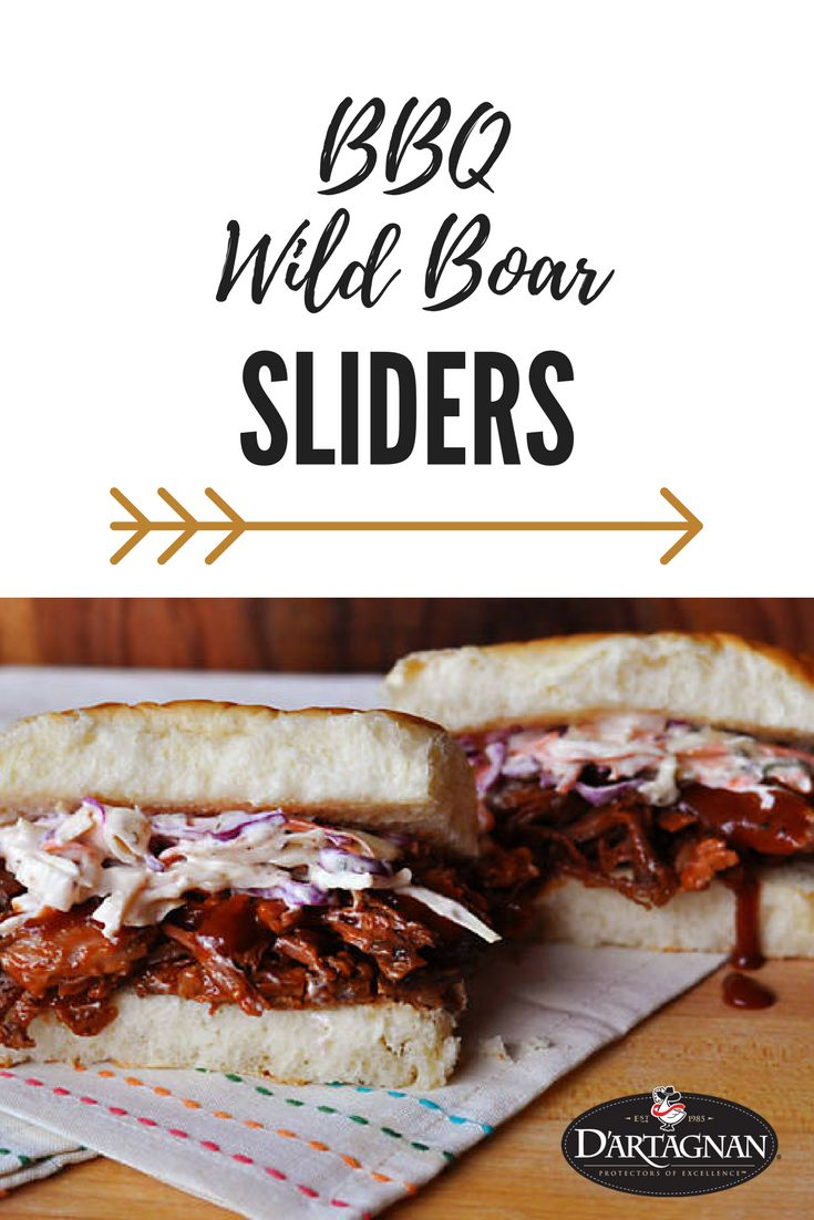 BBQ Pulled Wild Boar Sliders   Our flavorful slow cooked wild boar shoulder stands up to zesty barbecue sauce while a classic slaw adds crunch.   Have you tried wild boar? Wild boar meat offers a familiar yet utterly unique flavor, akin to what our ancestors must have experienced.  Want more great meat recipes? Follow us! #slowcooker