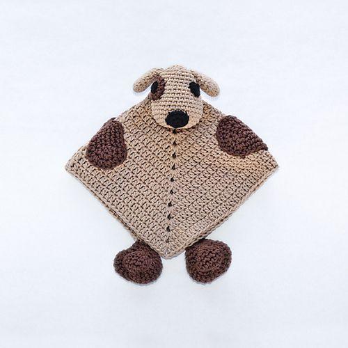 Free Crochet Dog Lovey Pattern : Puppy Dog Lovey Security Blanket pattern by Carolina ...