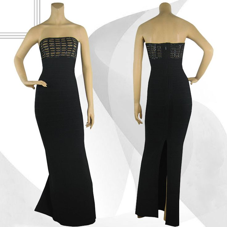 Amazing Herve Leger gown would be perfect for a last minute prom girl. Be the best looking lady in the room with this beautiful black and gold piece. Come and get it at Tres Chic Styling Montreal!