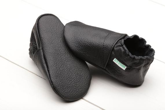 Black Baby Shoes Soft Sole Baby Shoes