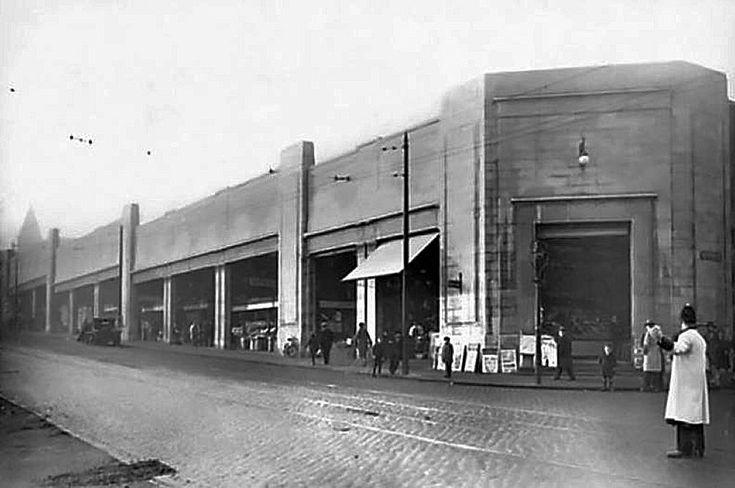 Central Market, King Edward Street and Huntingdon Street, Nottingham, early 1930s.