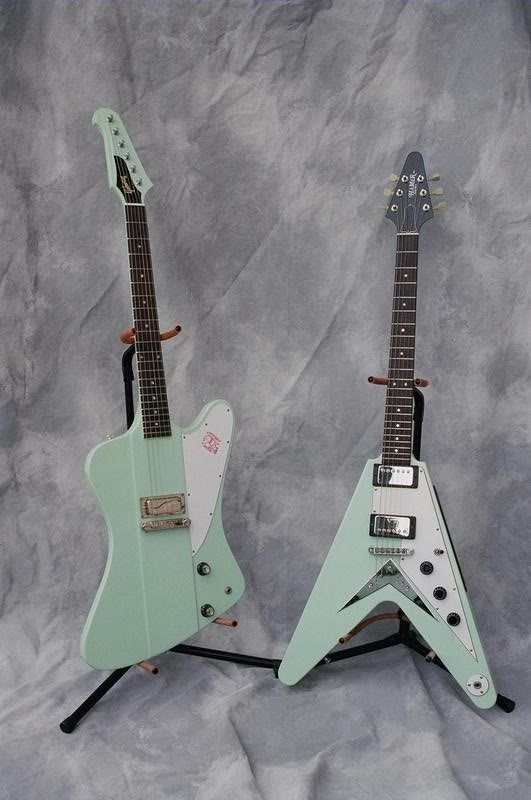 #Gibson Firebird and Flying V