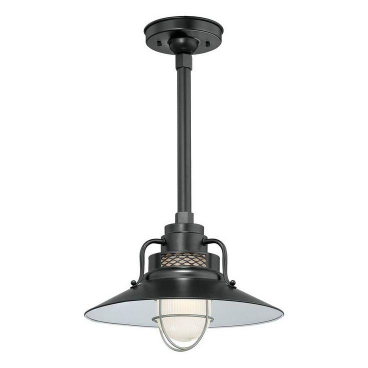 Millennium Lighting R Series 9.5-in H Black Outdoor Pendant Light $115 Lowes