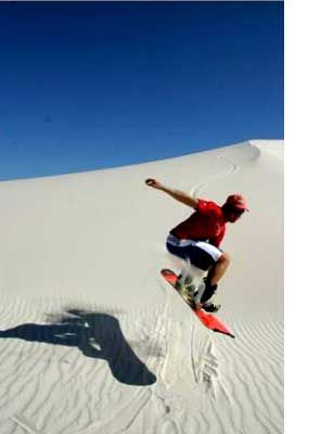 Sand boarding, Cape Town, South Africa