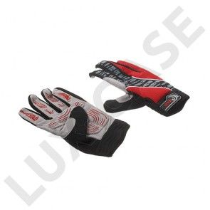Moke stødabsoberende cykelhandsker med touch-funktion - XL / Rød
