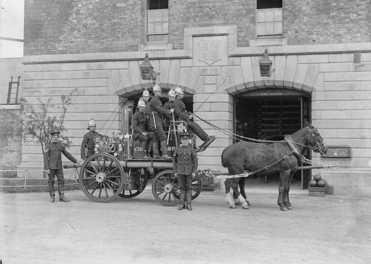 Fire brigade. Ireland. 1902