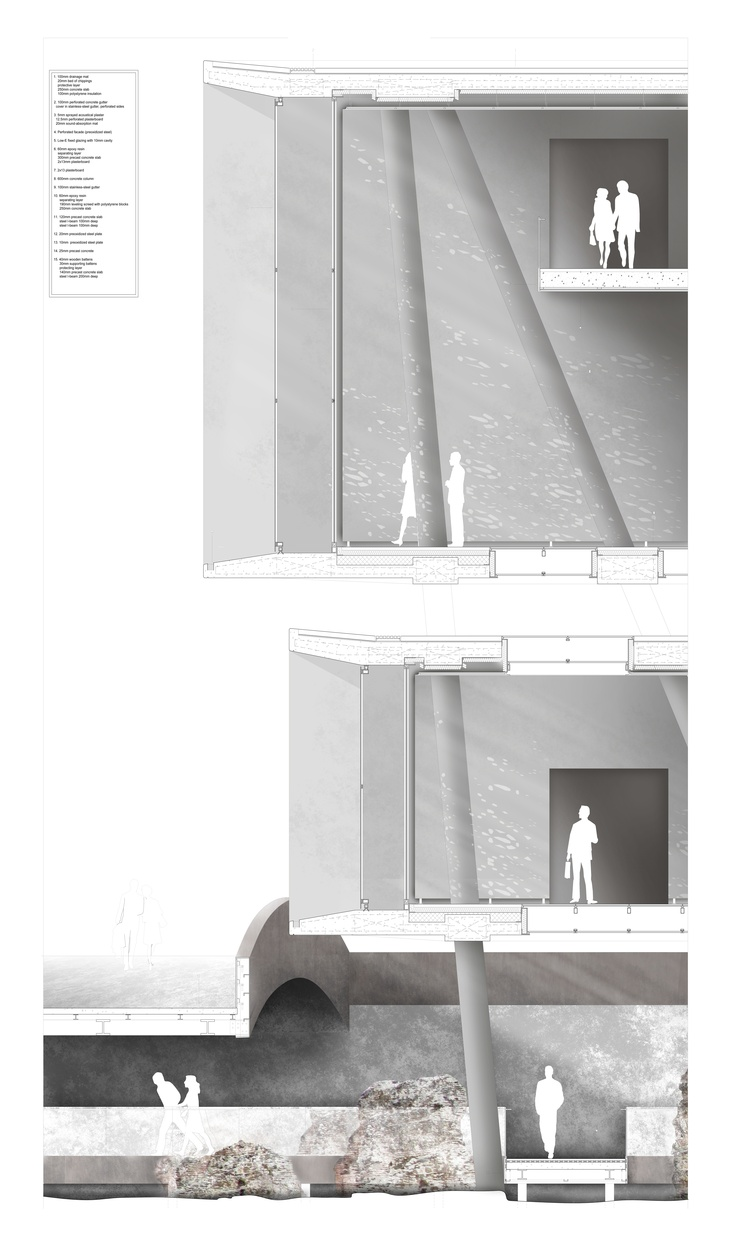 Museum of Roman and Byzantine Antiquities RIBA II, Year 6, Final Project by Kallikratis Evlogimenos