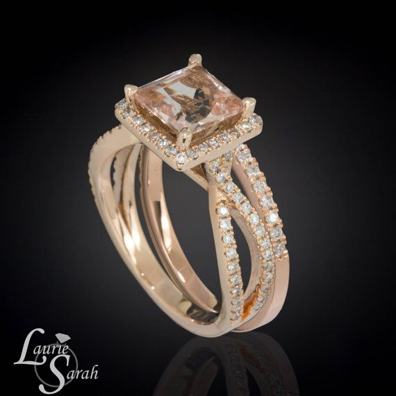 Morganite Engagement Ring Morganite Ring by LaurieSarahDesigns, $3658.50