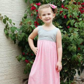 Magazine Street MAXI Dress for Girls (sizes 2yrs-16yrs)   Sewing Pattern   YouCanMakeThis.com