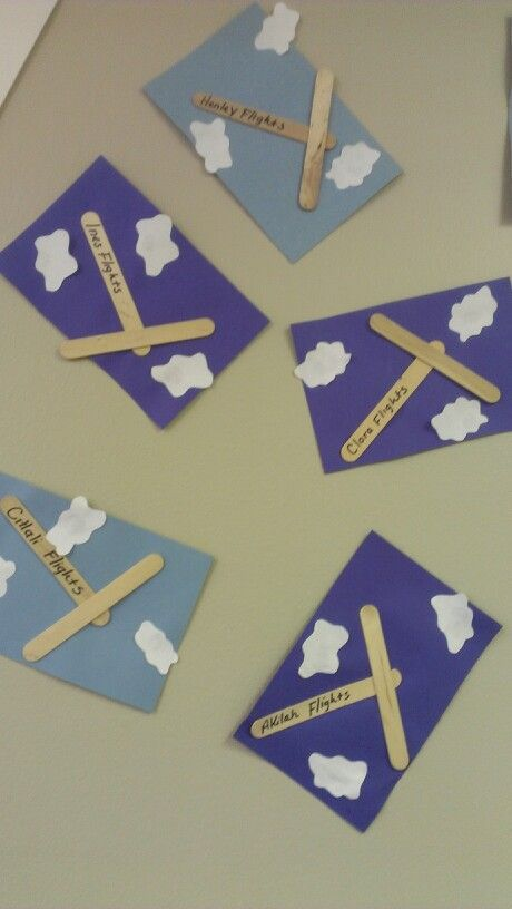 airplane stick craft... VERY easy and kids loved it airplanes and automobile week