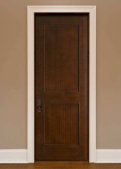 Classic Mahogany Solid Wood Front Entry Door - Single - DBI-301