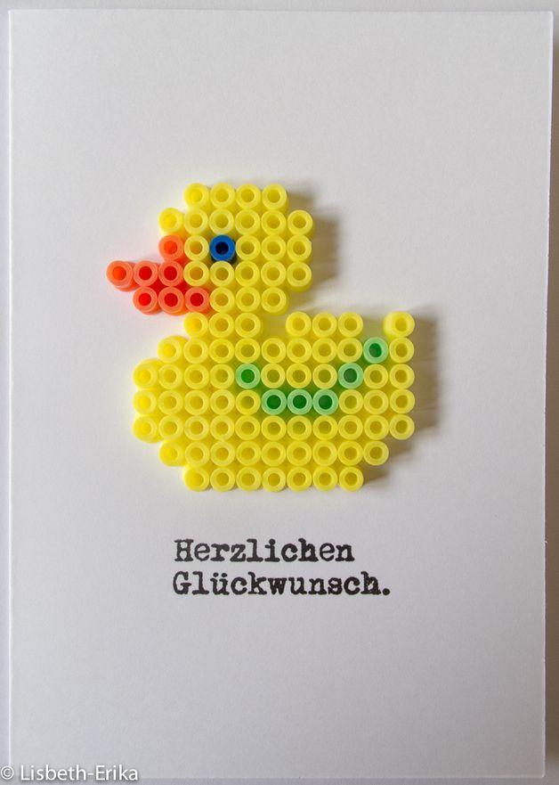 Glückwunschkarte Ente gelb Mehr