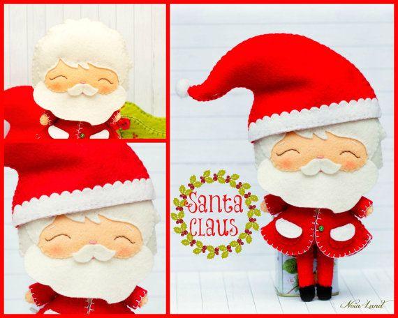Patrón de PDF. Santa Claus Rudolph el Reno y trineo de por Noialand