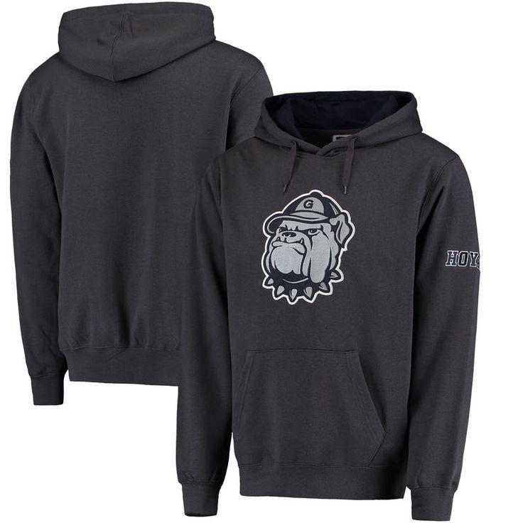 Georgetown Hoyas Stadium Athletic Big Logo Pullover Hoodie - Charcoal