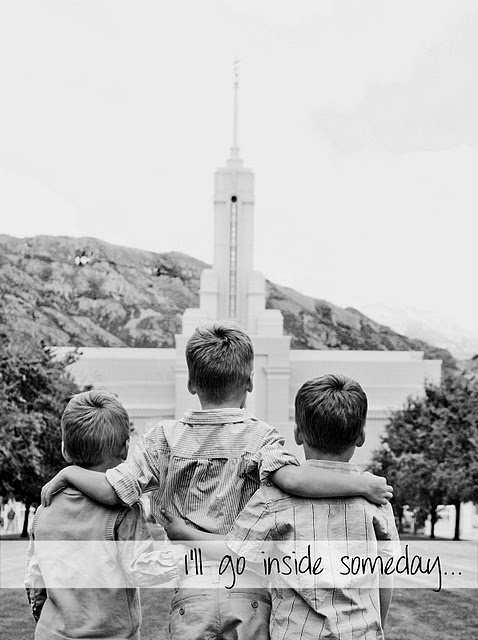 Take a picture of your kids in front of the temple and frame it for their room. I love this
