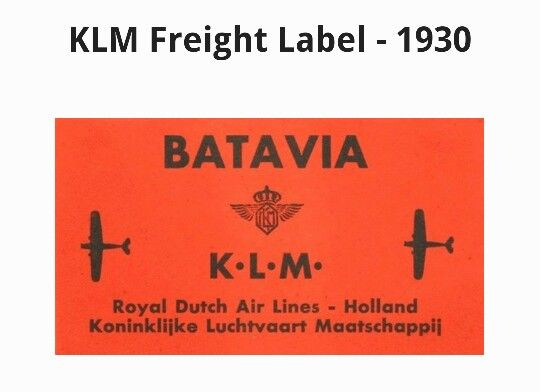 KLM Freight Label