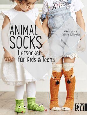 Anleitung mit Zählmuster für Fuchssocken aus dem Buch Animal Socks