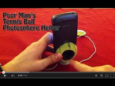 Poor Man's Tennis Ball Photosphere Helper - YouTube