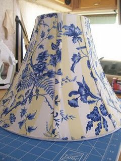 So Easy No Sew (almost) Lampshade Redo Tutorial
