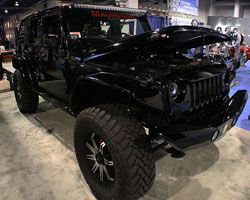 Hum-Vee Style Four-Door Jeep Wrangler Project Vehicle at 2012 SEMA Show