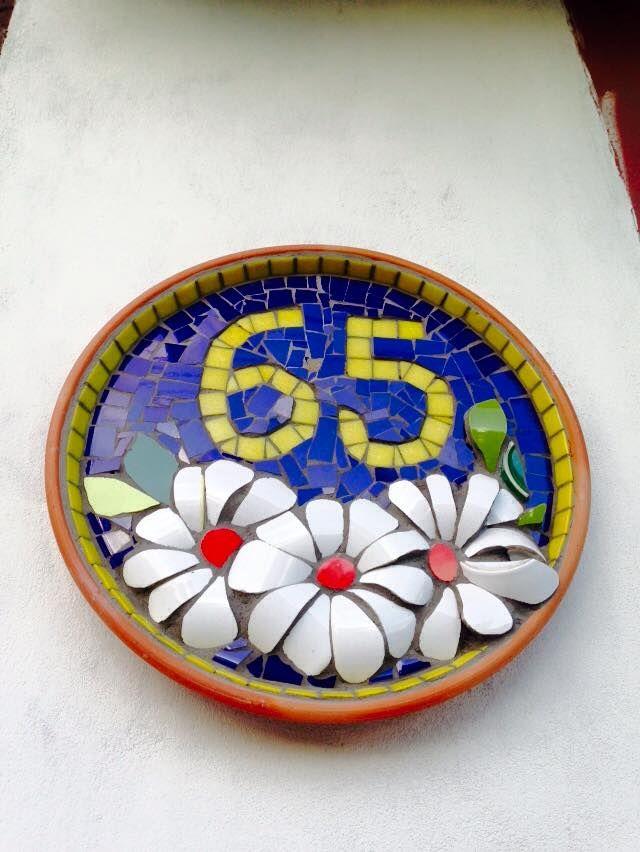 números de mosaico