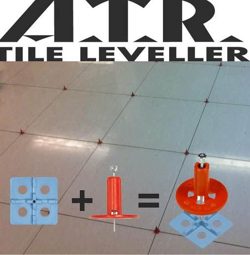 ATR Tile Leveling System (Pro 450 Kit). ATR tile leveling alignment system will result in professional smooth finishes. Great for DIY tile projects and professional tile man alike. This lippage free leveling system interlocks the tiles together, creating a single flat slab surface while the setting material is curing.