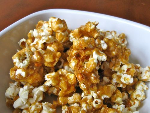 This caramel corn recipe is easy, because it starts with microwave popcorn. Butter, brown sugar and corn syrup make this caramel corn recipe taste amazing.