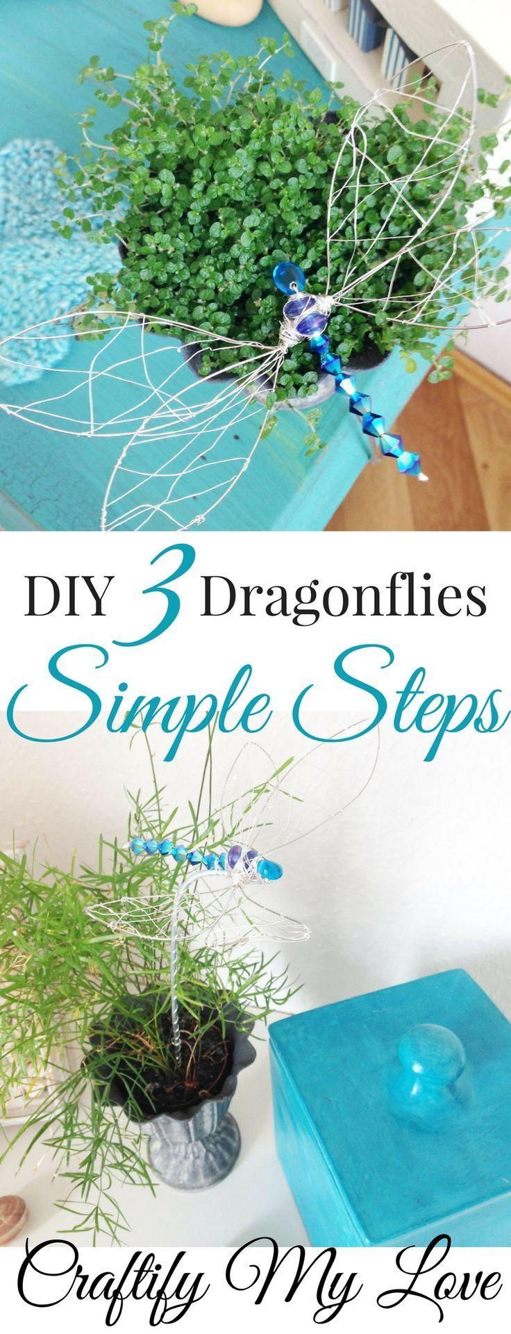 Erfahren Sie, wie Sie in 3 einfachen Schritten glitzernde DIY-Libellen herstellen können Klicken Sie hier, um die Fr