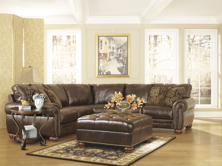 the sectional pictured w end table and oversized ottoman brown sectional sofaliving room