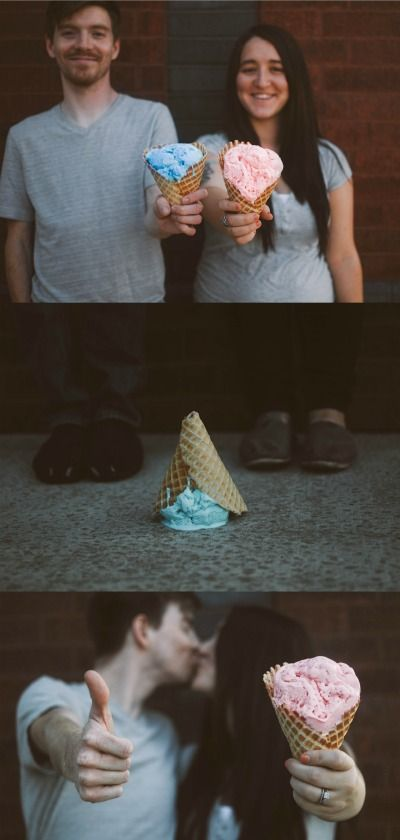 icecream-gender-reveal-- hehehe sounds like something I would enjoy ^^