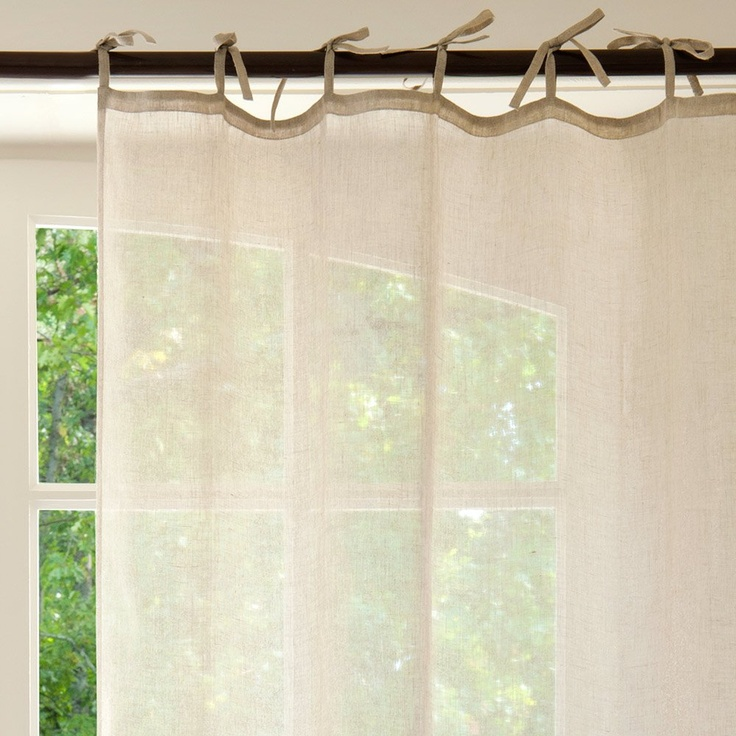 Oltre 25 fantastiche idee su tende di lino su pinterest for Tende con laccetti