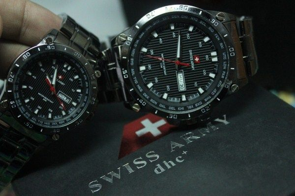 Swiss Army Couple Stainless | Rp. 250.000,-