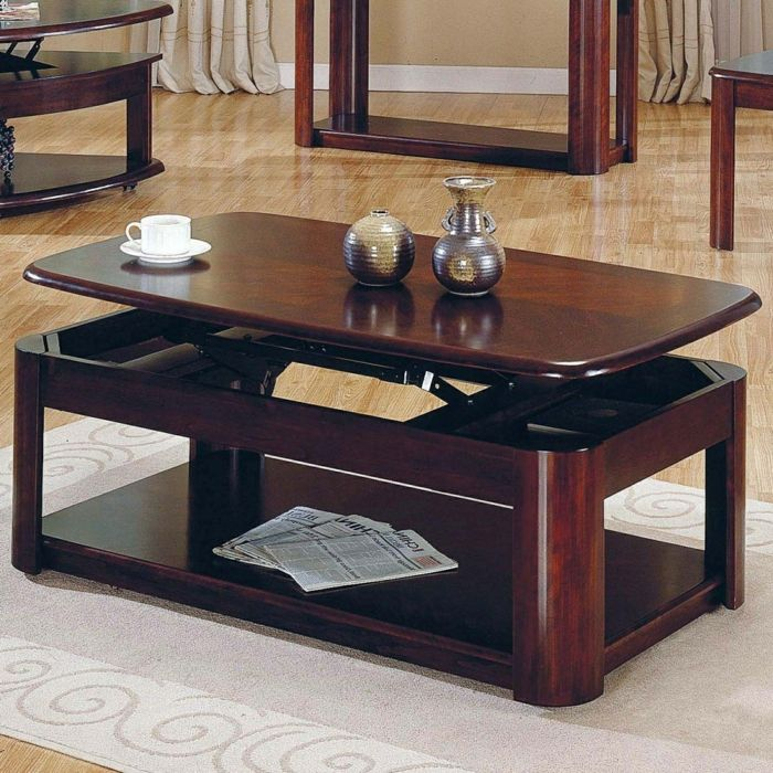 The 25 best ideas about table basse relevable extensible - Mecanisme table basse relevable ...