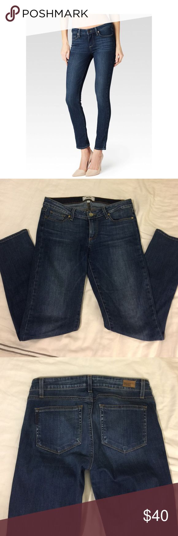 """Paige premium denim skinny jeans Excellent condition! Worn a couple times, hand washed and hung to dry. Basically like new. Style is the """"skyline ankle peg"""" Paige Jeans Pants Ankle & Cropped"""