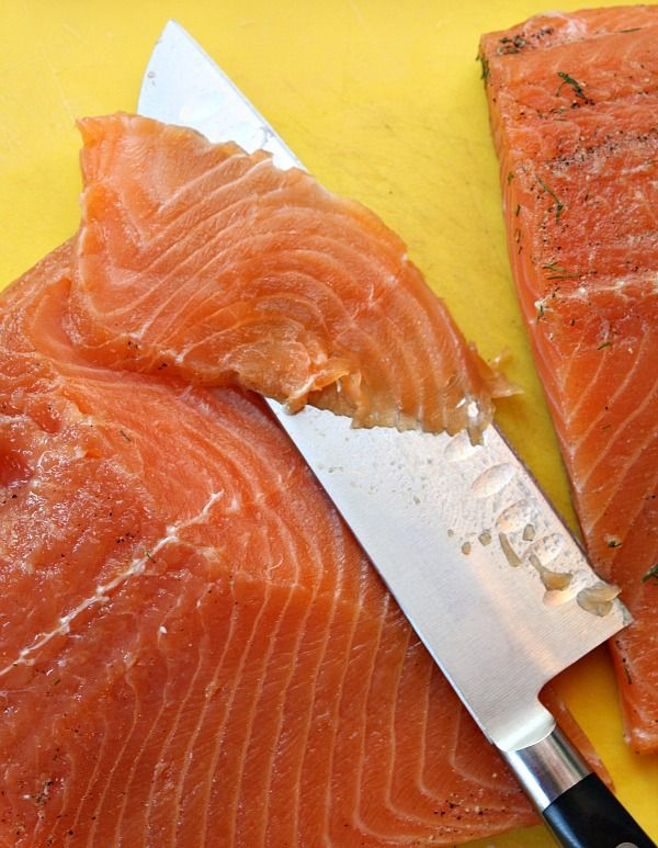 "make youre own smoked salmon ""gravlox"" whatever you call it it's delicious@"