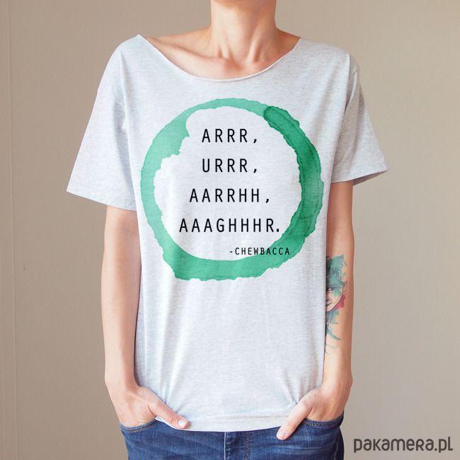 bluzki - t-shirty - damskie-Arrr Krótki szary Oversize