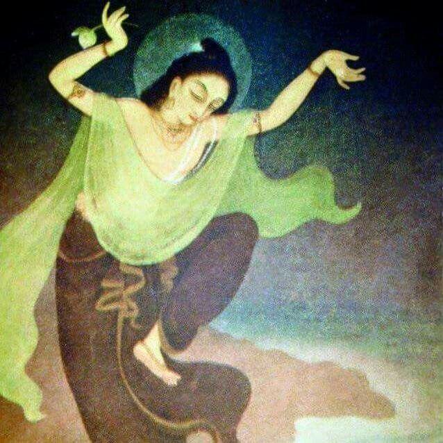 Lord Gauranga in dancing ecstasy.