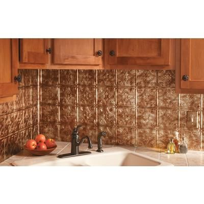 fasade traditional 1 bermuda bronze backsplash f50 17 home depot