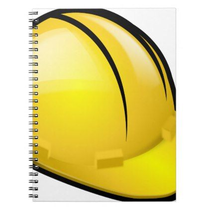 Hard Hat Notebook - architect gifts architects business diy unique create your own