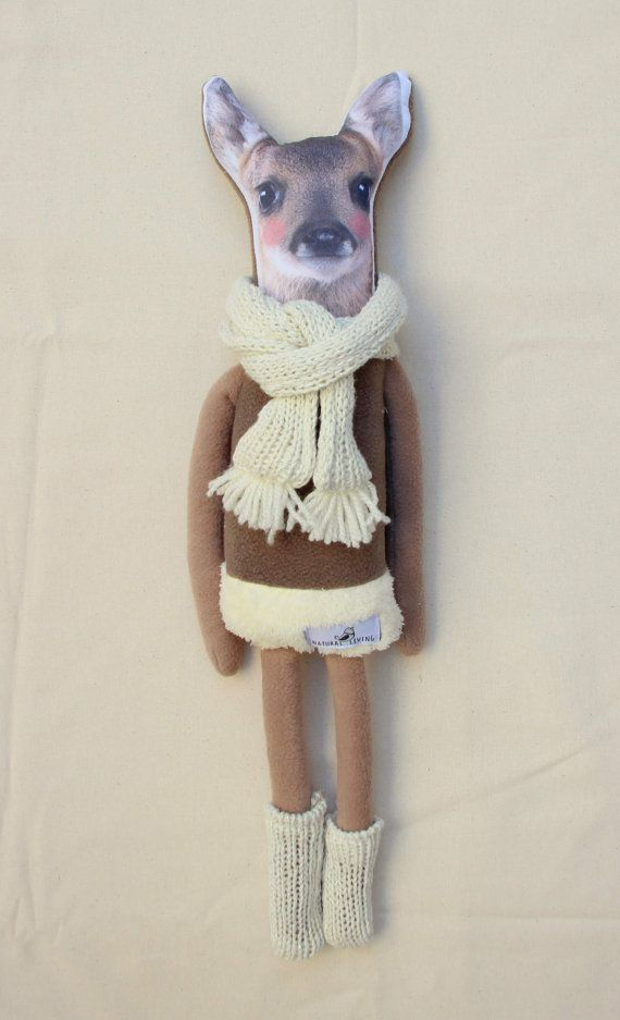 FAWN DOLL bambi softie deer doll by NATURALLIVINGpl on Etsy