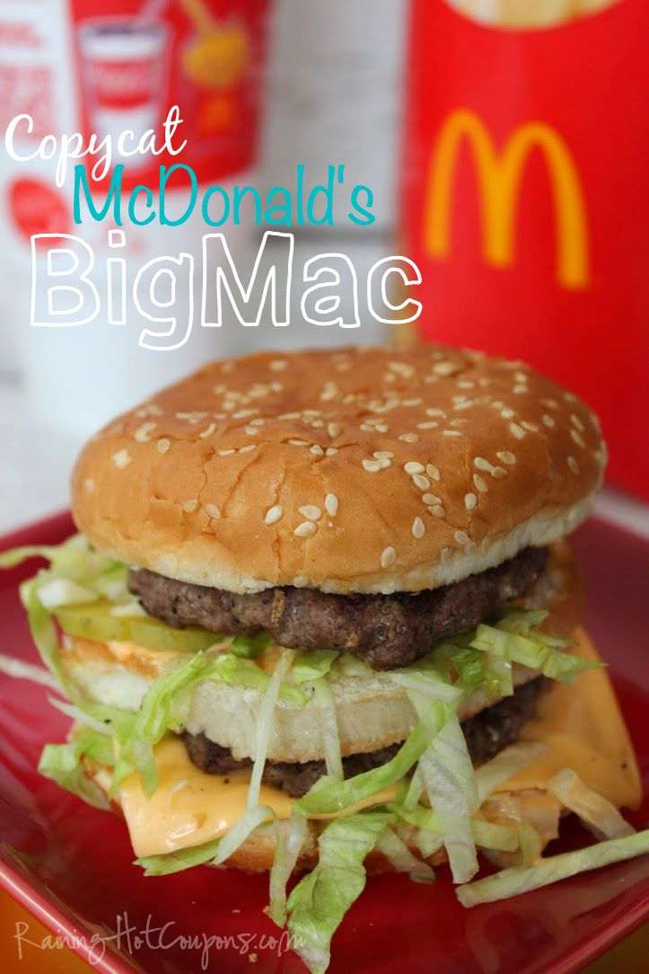 Copycat McDonald's Big Mac.  Looks much better than McDonalds, plus you know what is going in to it.
