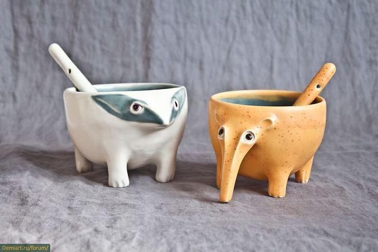 Причудливые керамические существа