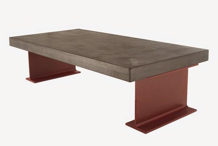 mesa de centro burdeos microcemento