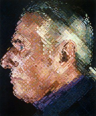 Paul IV - Chuck Close. Paul IV, 2001, Oil on Canvas | White Cube, London