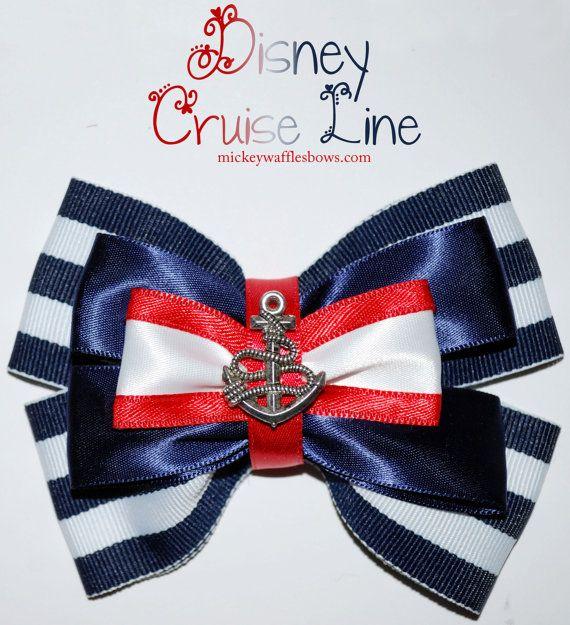 Arco del pelo de línea de cruceros Disney por MickeyWaffles en Etsy