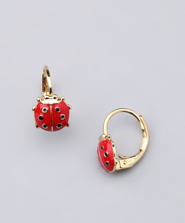 Take A Look At This Red Gold Ladybug Leverback Earrings By Fuzion Creations On