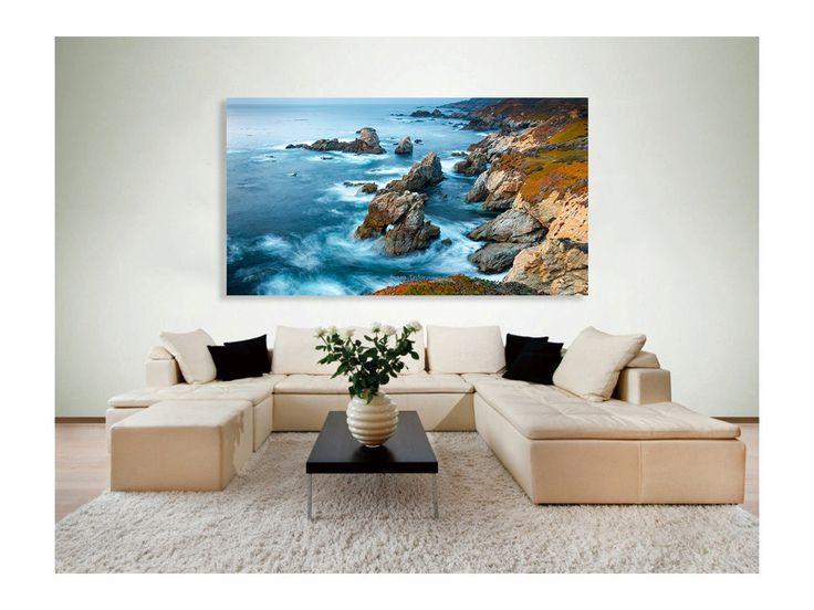 large big sur photography california seascape photo large home decor carmel coast photography nautical blue ocean print susan taylor - Ocean Home Decor